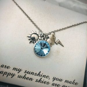 Sun & cloud charm necklace 🌩☀️